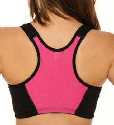 Rhonda Shear Zip Front Sport Bra 175870 SALE ONLY $14