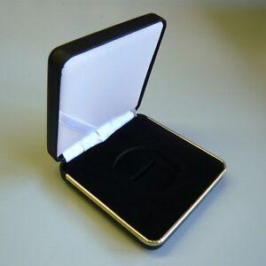Caja-De-Cuero-Estuche-de-Cuero-para-1-moneda-o-medalla-de-46-mm-American-Silver-Eagle