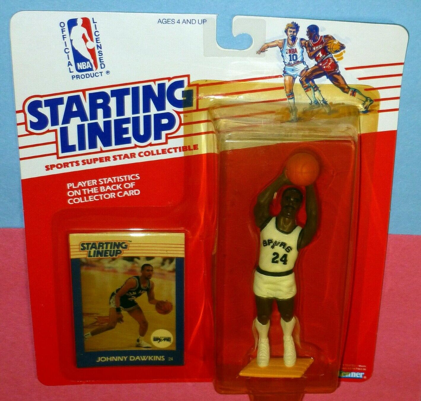 1988 JOHNNY DAWKINS San Antonio Spurs Rookie  FREE s h  sole Starting Lineup