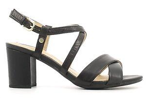 GEOX-NESA-scarpe-donna-sandali-aperti-alti-tacco-plateau-pelle-nappa-camoscio