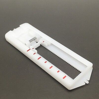 Sliding BUTTON HOLE FOOT For Domestic Sewing Machines Screw on Low Shank Foot