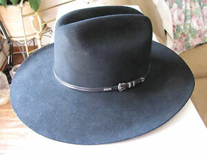b686305490a Image is loading VINTAGE-MENS-STETSON-RESISTOL-BLACK-LEATHER-BEAVER-WESTERN-
