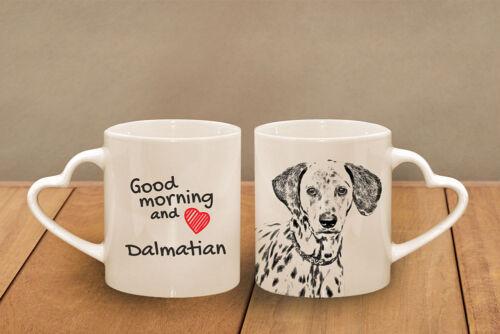 Dalmatiner - ein Becher mit einem Griff in der Form des Herzens, Subli Dog,DE