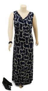 CLEAR READY TO WEAR Black Pattern Sleeveless Maxi Dress | Plus Size: 16