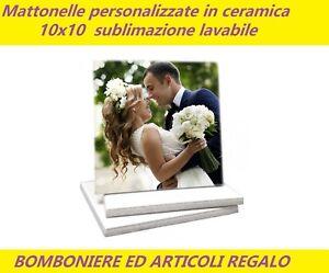 En Herbe Mattonella Bomboniera Piastrella Personalizzata 10x10 Lavabile Sublimazione 5mm