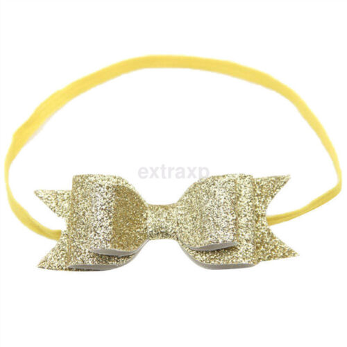 Hot Baby Girls Hairband Bow Elastic Band Headband Flower Hair Accessories Xmas