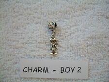 BOY #2 CHARM  - BRACELET / NECKLACE - CHARM / BEAD - TIBETAN SILVER