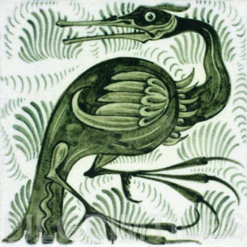 William de Morgan long bec oiseau en céramique ou porcelaine Tile feu Cuisine Bain