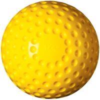 Champion Dozen Ds12 12 Yellow Pitching Machine Dimpled Softballs Balls