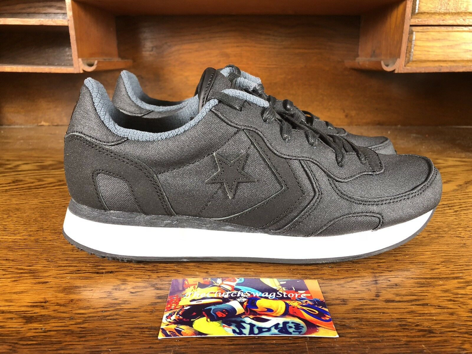 online retailer abfea fbe1b Converse Auckland Racer Ox Mens Running shoes Black Grey White 144556C NEW  Sz 8 onubyg2044-Men s Trainers