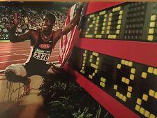 Michael Johnson Original Mano Firmado Foto 12x8 con certificado de autenticidad