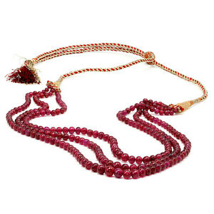 Triple-Strand-Ruby-Bead-Necklace-309-86-Carats