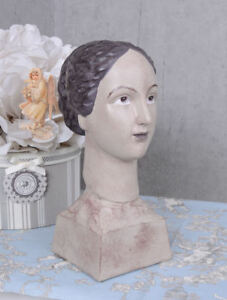 dekofigur Art Déco buste figure féminine shabby de jeune fille Tête ...