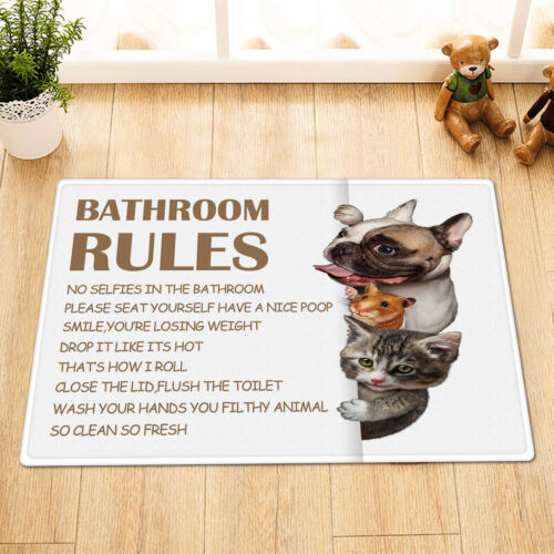 Cute Animals Dog Cat Guinea Pig Funny Quotes Shower Curtain Set Bathroom Decor