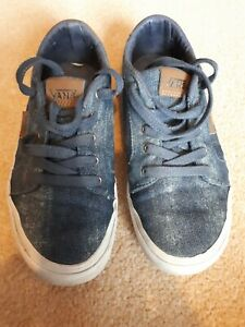Vans-blue-denim-style-shoes-size-3-UK-Good-condition