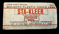 Vintage Sta Kleer Cast Resin Welders Plastic Cover Lens In Package 2x4 14