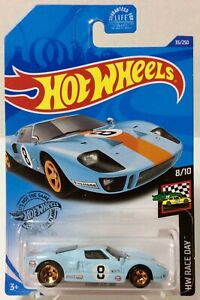 #32//250 HW RACE DAY 8//10 NEW 2020 HOT WHEELS Ford GT-40 Gulf Blue Col
