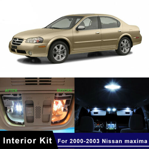 13x LED Map Dome Step Interior Lights Kit For 2000-2003 Nissan Maxima White US