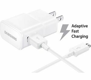 OEM Samsung Adaptive Fast Charger Micro USB 2.0 Cable 1 Wall Charger + 5 FT USB