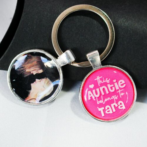 Personalised dog Photo  and message memorial Keyring Christmas Gifts Daddy gift