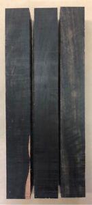 Schwarzes-Ebenholz-Ebony-Drechselholz-Tonholz-Tonewood-400-x-50-x-50mm