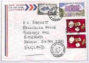 Capable Bq106 1975 Cote D'ivoire Devon Great Britain Airmail Cover {samwells} Pts-afficher Le Titre D'origine