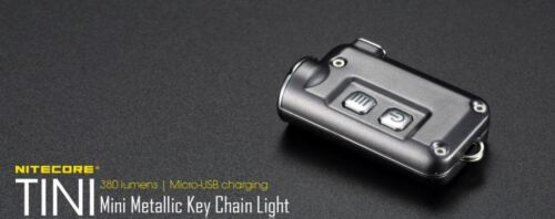 Nitecore TINI Grey EDC torcia portatile 380 Lumens Ricaricabile Grigio Opaco