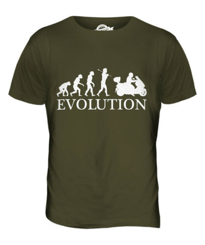 SCOOTER EVOLUTION OF MAN MENS T-SHIRT TEE TOP GIFT STUNT