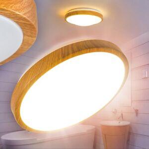Runde LED Deckenlampe Badezimmer Holzoptik Leuchte Raumleuchten ...