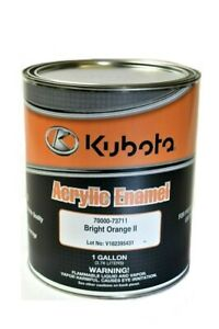 Acrylic Enamel Paint >> Details About Genuine Kubota Bright Orange Ii Professional Acrylic Enamel Paint Oem 1 Gallon