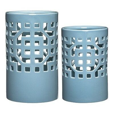 Threshold Pierced Round Lantern - Blue