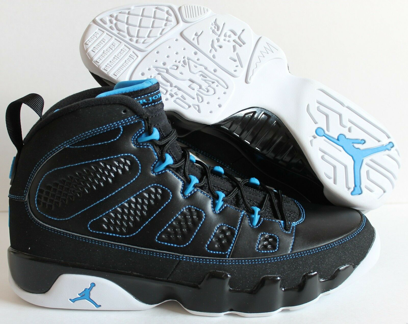 outlet store 8c561 2183e NIKE AIR JORDAN 9 RETRO Noir -blanc -PHOTO Bleu SZ 13