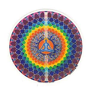 Mandala Arts Meditation Lotus 2 Side High Quality Circle Window Sticker 5036923993032