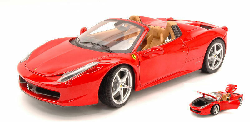 Ferrari 458 Italia Spider 2011 rosso Elite Edition 1:18 Model BCJ89 HOT WHEELS