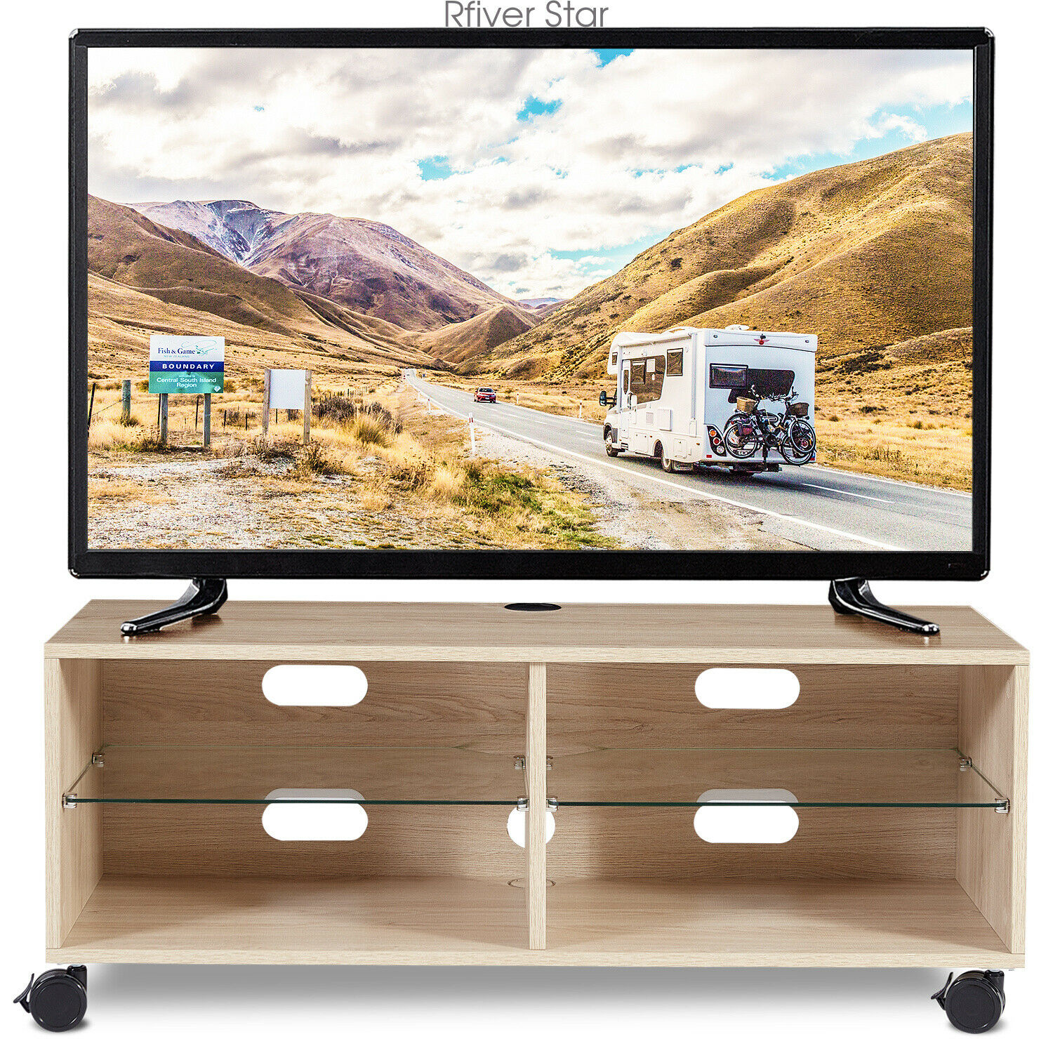 Picture of: Modern Tv Stand For Tvs Up To 42 Inch Wood Entertainment Center Media Furniture For Sale Online Ebay