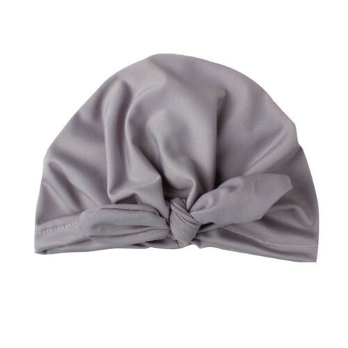 Toddler Girls Baby Turban Solid Headband Hair Band Bow Accessories Headwear Cap