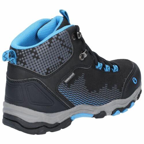 Cotswold Ducklington Lace Black//Blue Childrens Hiking Boots Textile+Synthetic