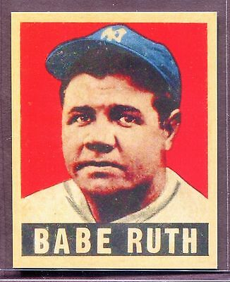 Babe Ruth 1948 - 1949 Leaf Baseball Card #3 Reprint Grade MINT for ...