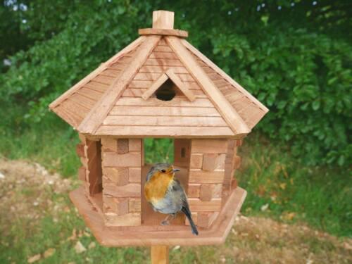 Installazione libera uccellino in legno massello tavolo Stazione di alimentazione portatile Alimentatore Deluxe