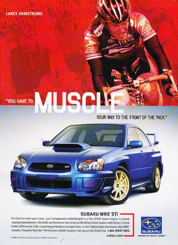 2003 2004 Subaru WRX STi Impreza Lance Armstrong Vintage Advertisement Ad A10