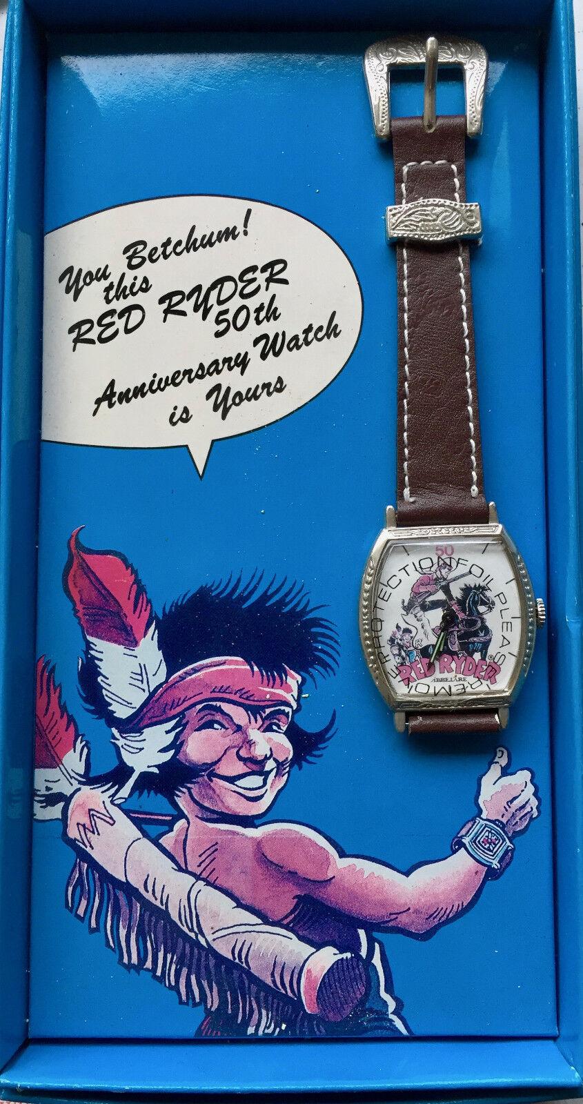 Abbelare Rot Ryder 50tes Jubiläum Uhr Limitiert Selten mit Original Kiste