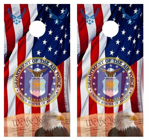 U.S. Air Force Patriotic Cornhole Board Wraps FREE APPLICATION SQUEEGEE