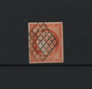 FRANCE-YVERT-N-5-SCOTT-7-034-CERES-40c-ORANGE-1850-034-USED-VF-SIGNED-T750