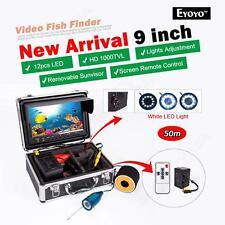 "EYOYO 50M Portable 9"" LCD Fish Finder Underwater Fishing Camera+Remote Control"