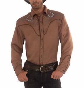 Western Shirt Cowboy Wild West Brown