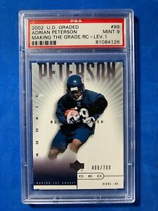 2002 UD Graded #99 ADRIAN PETERSON RC  406/700 PSA 9 MINT ROOKIE