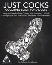 just cocks coloring book for adults funny and naughty coloring book containing - Funny Coloring Books For Adults