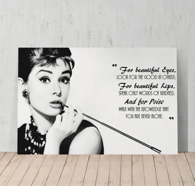 Audrey Hepburn Canvas Print Wall Art Home Decor Framed XMAX ...