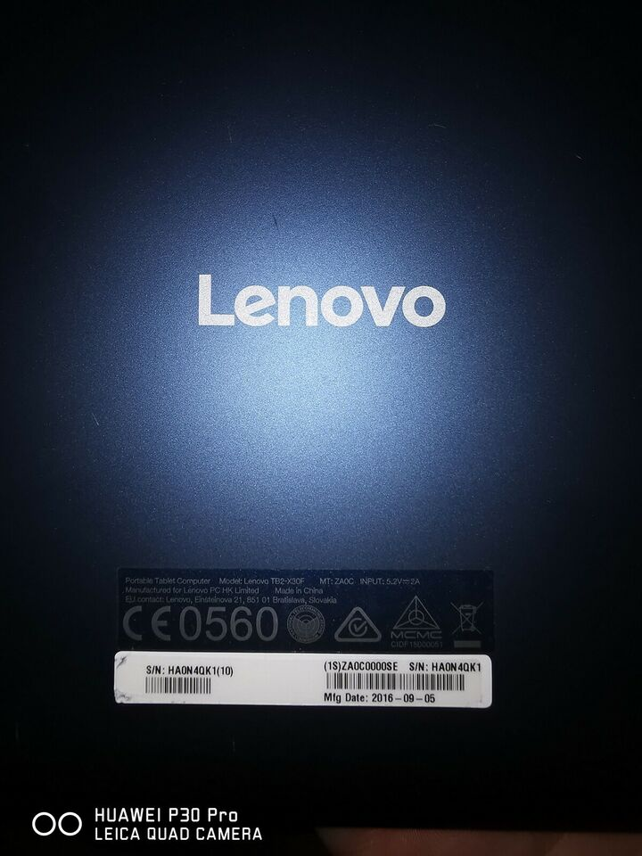 Lenovo, Tb2-x30f, 10 tommer