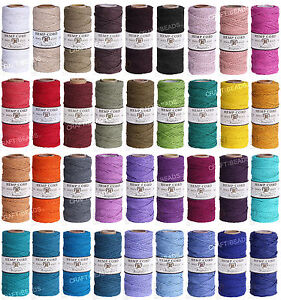 1MM-Solid-Polished-Hemp-Twine-Hemptique-Cord-Macrame-String-20lbs-205ft-Spool